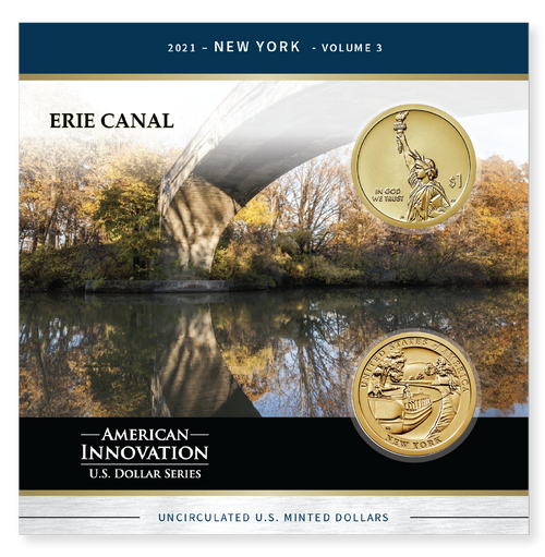 American Innovations Dollar Collection-NY Erie Canal