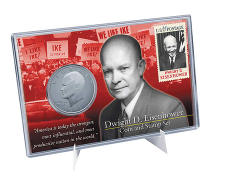 APOLLO 11 IKE EISENHOWER DOLLAR Americana Series 1ST MOON LANDING STAMP COIN SET