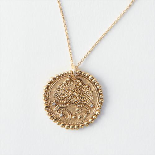 Cancer Zodiac  Necklace - Gold