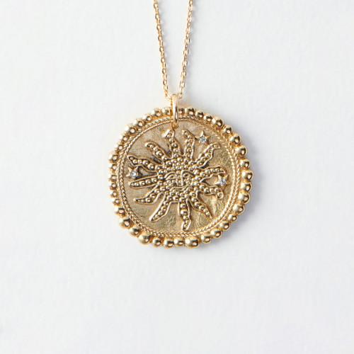 Necklace constellation sun - Gold