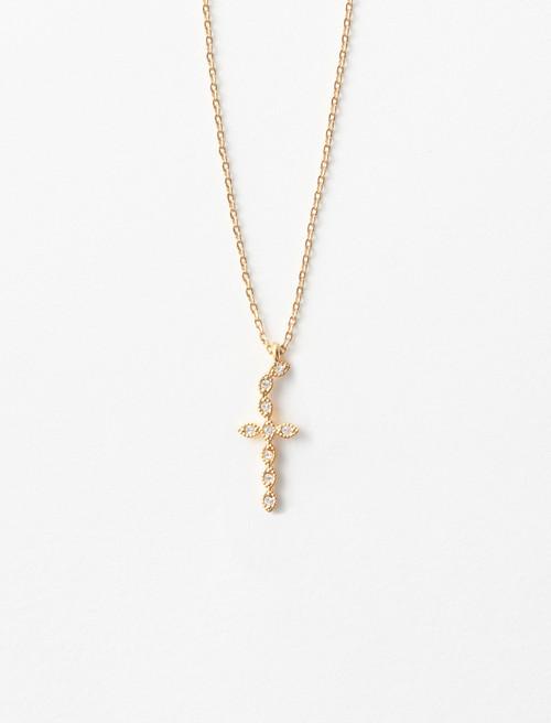 Rhinestone F necklace - Gold