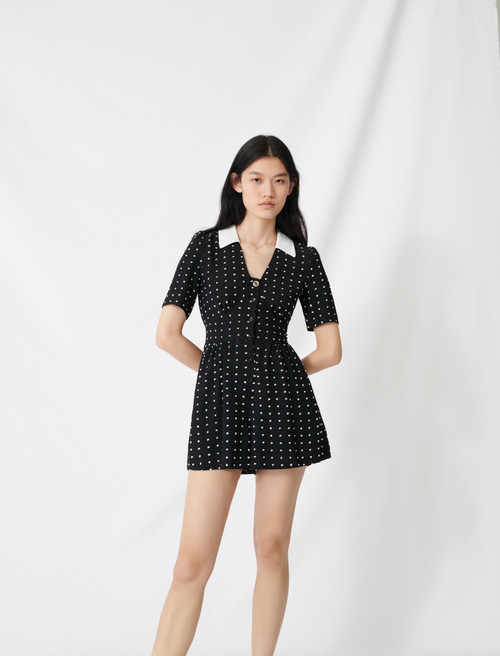 Floaty playsuit with retro polka dots - Multi-colour