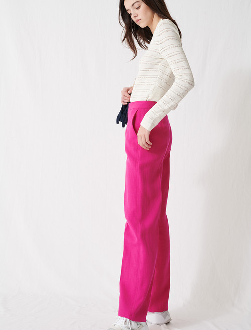 Fuchsia tailored trousers - Pink
