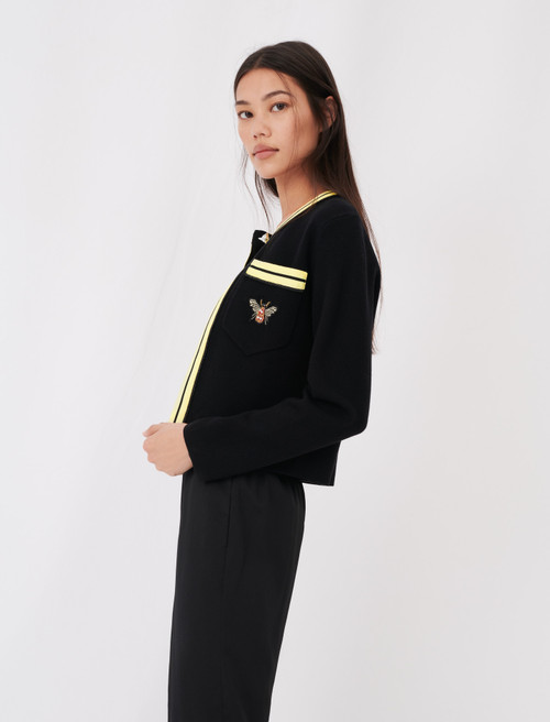 Cardigan with contrasting details - Black
