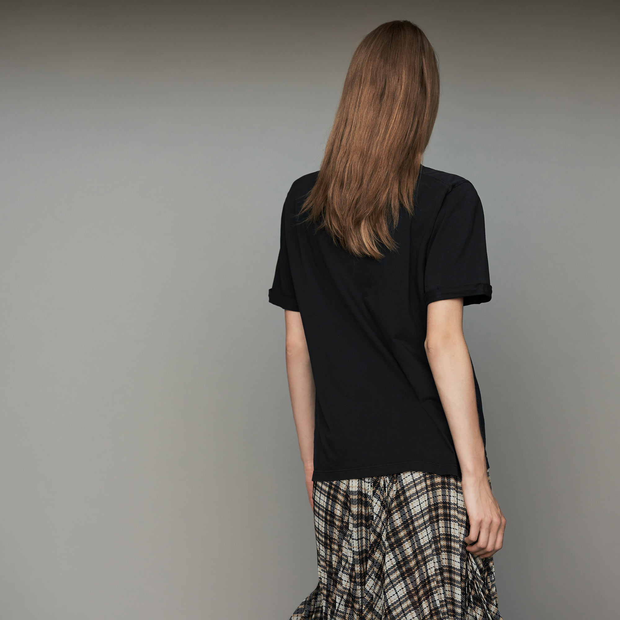 Oversize printed cotton T-shirt - Black