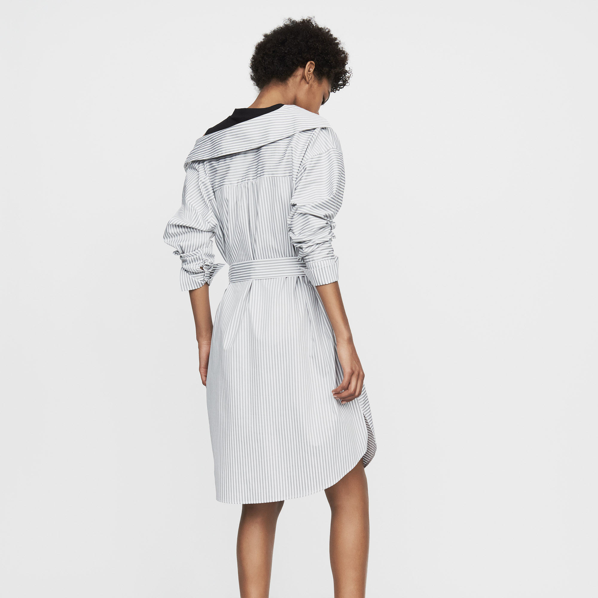 Destructured striped shirt dress - Stripe