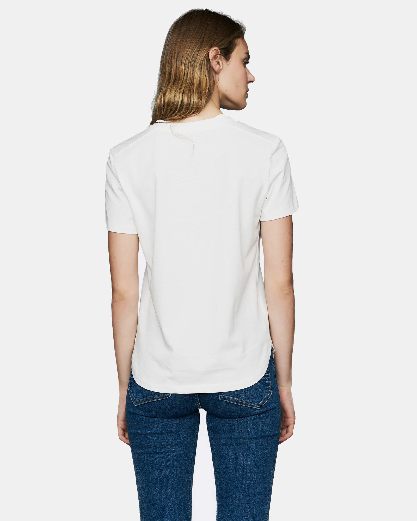Cotton T-shirt with patch - White