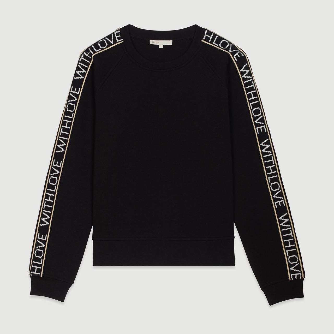 """Sweat """"With Love"""" On Sleeves - Black"""