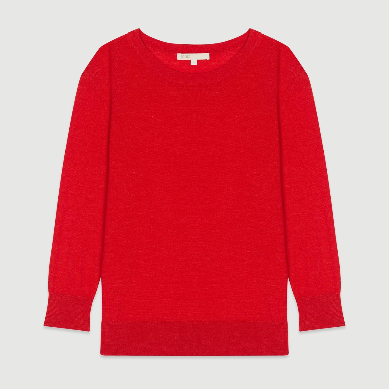 Round Collar Sweater - Red
