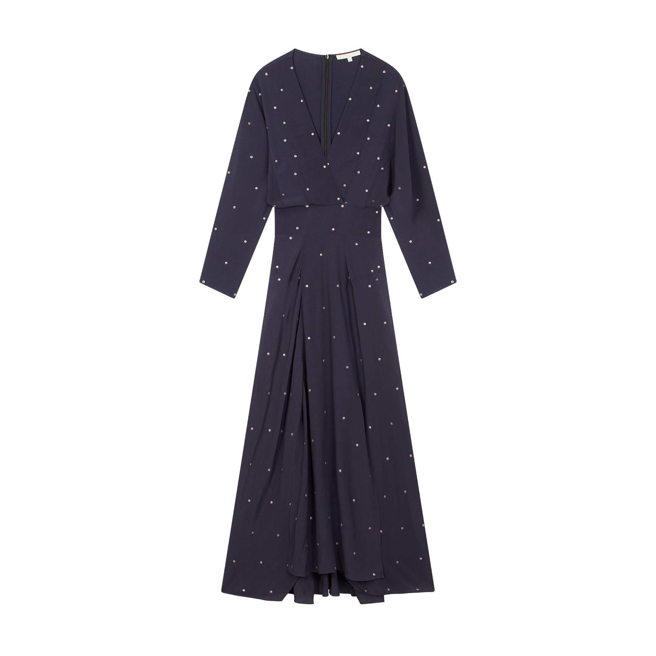 Scarf Dress With Studs - Navy