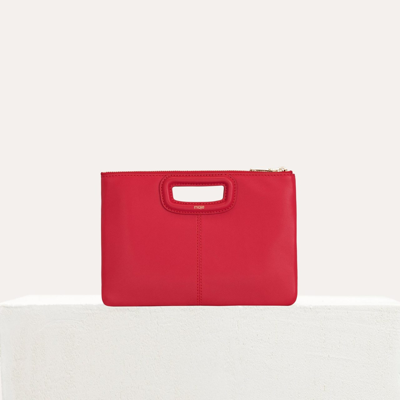 M Duo Purse In Leather - Red