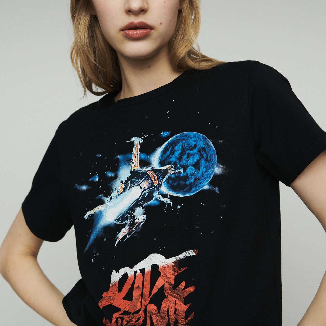 Ride With Me Printed T Shirt - Black