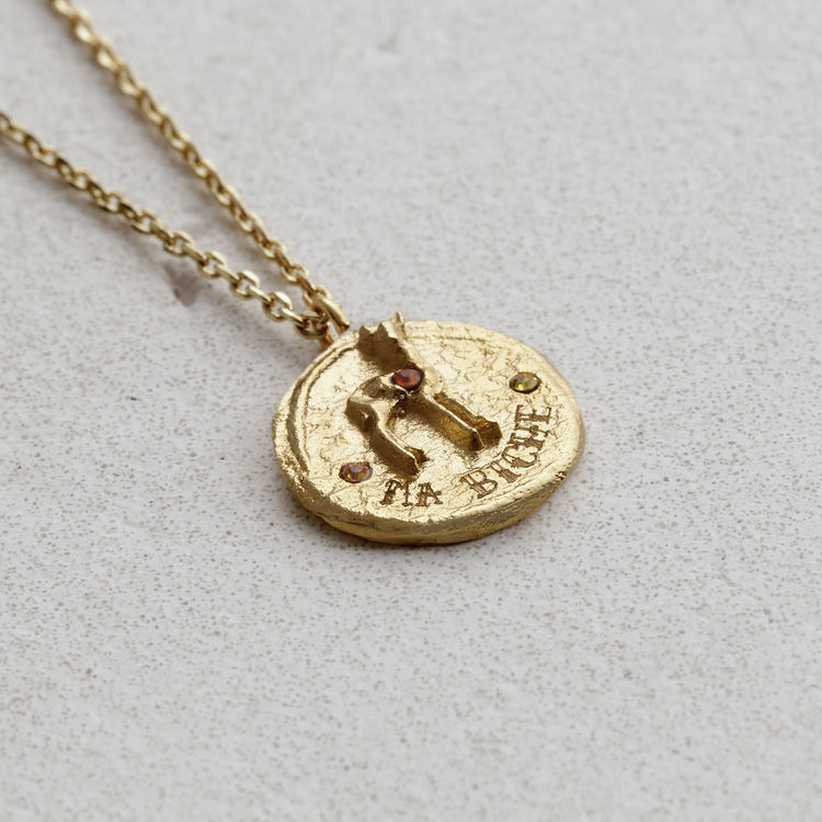 "Necklace ""Ma Biche"" In Gold Plated - Gold"