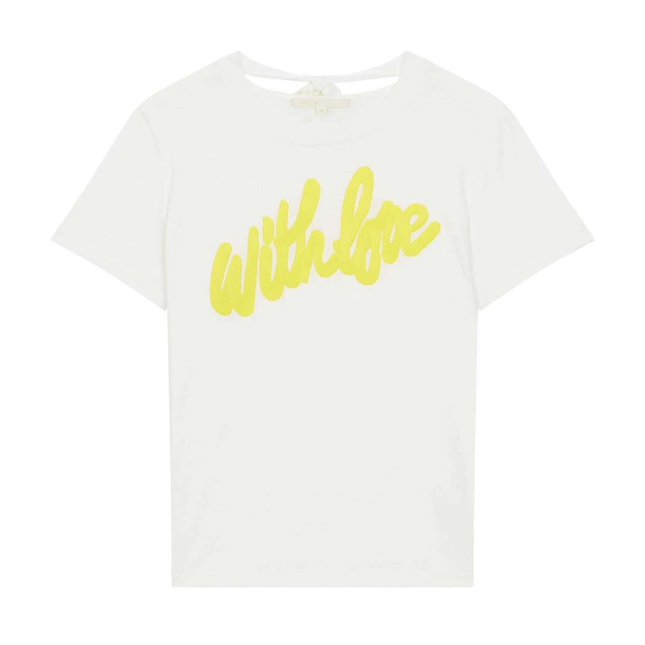 Tee-Shirt With Embroidered Slogan - White
