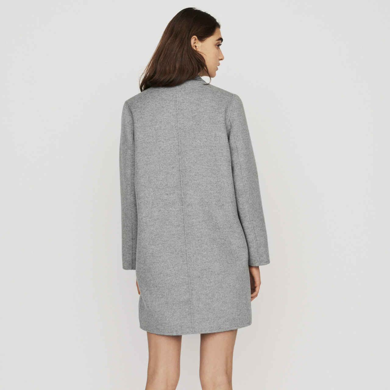 Mid-Length Double-Faced Coat - Grey