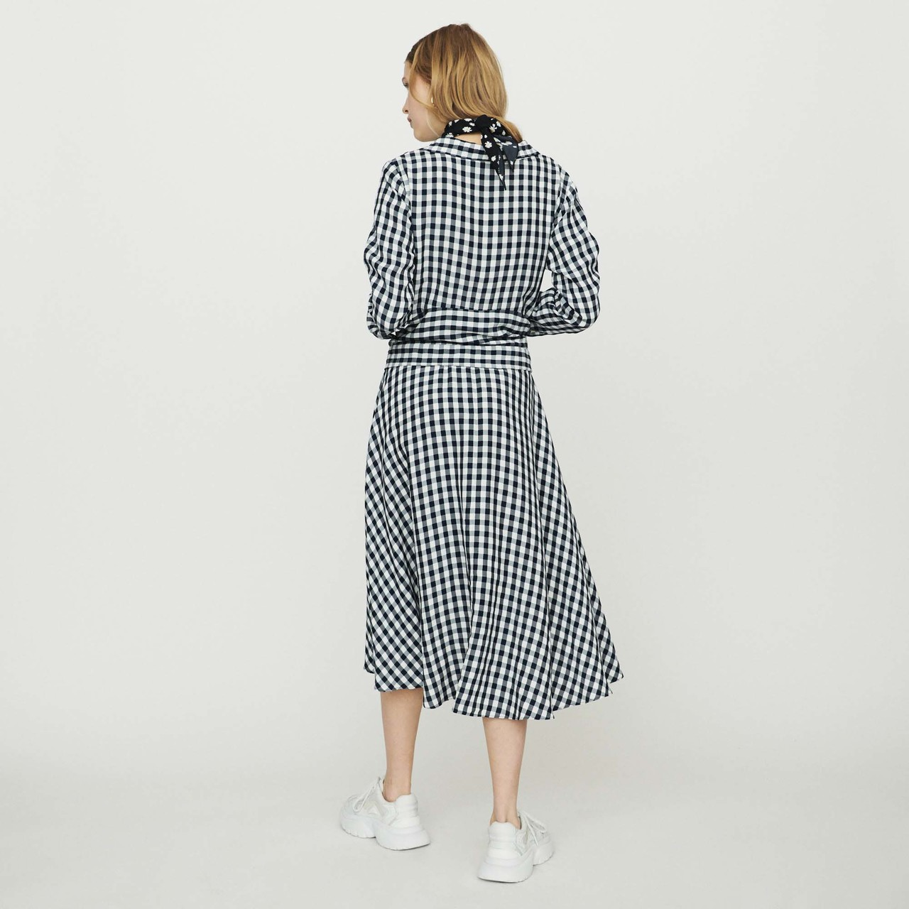 Midi Shirt Dress In Vichy Print