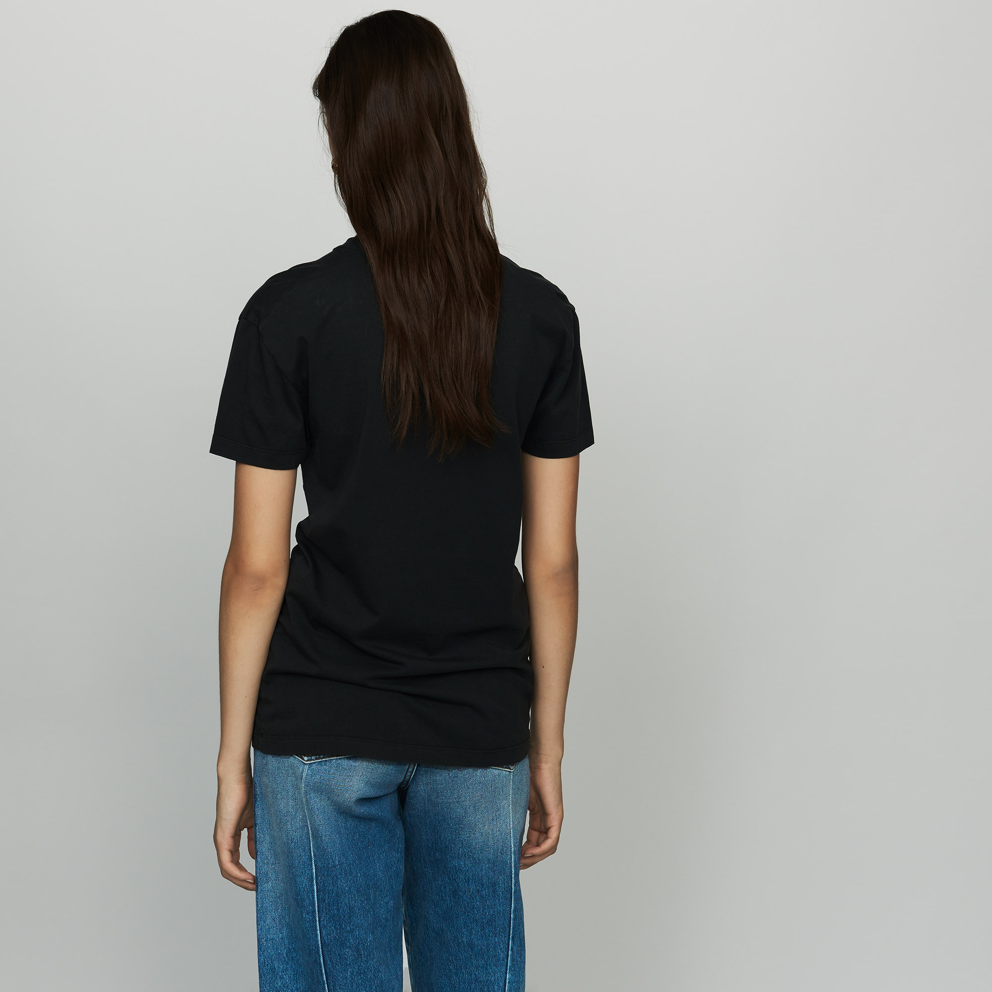 Cotton Printed T-Shirt - Black