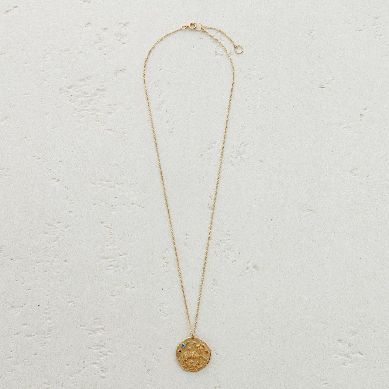 AriesZodiac Sign Necklace - Gold