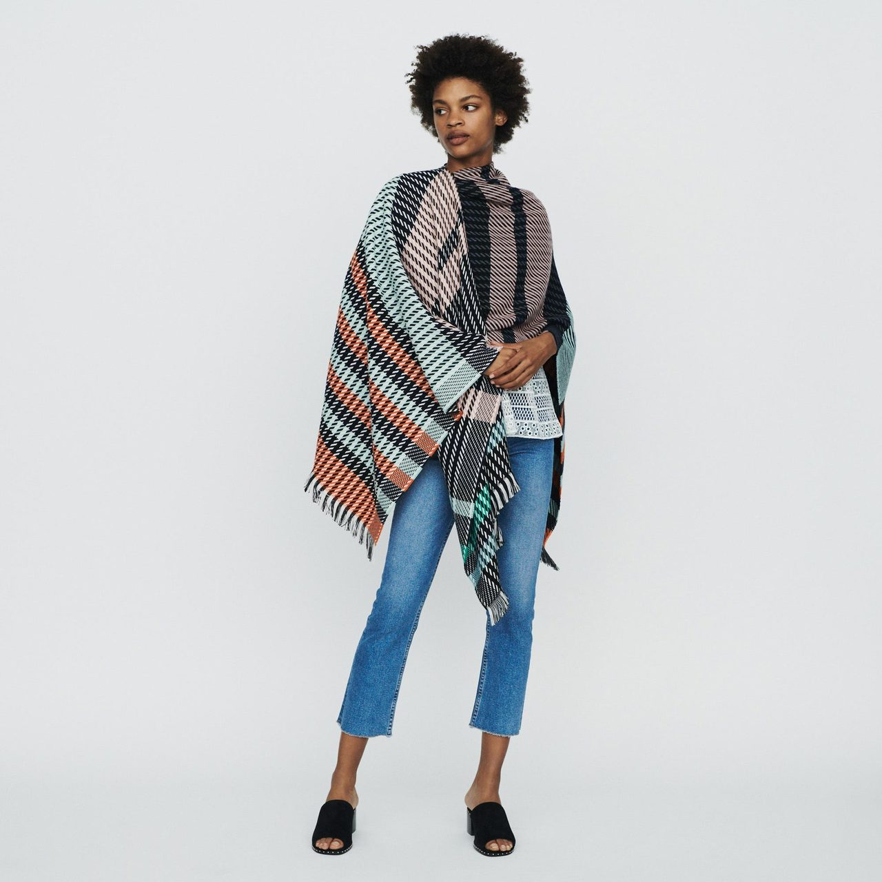Poncho In Stripes