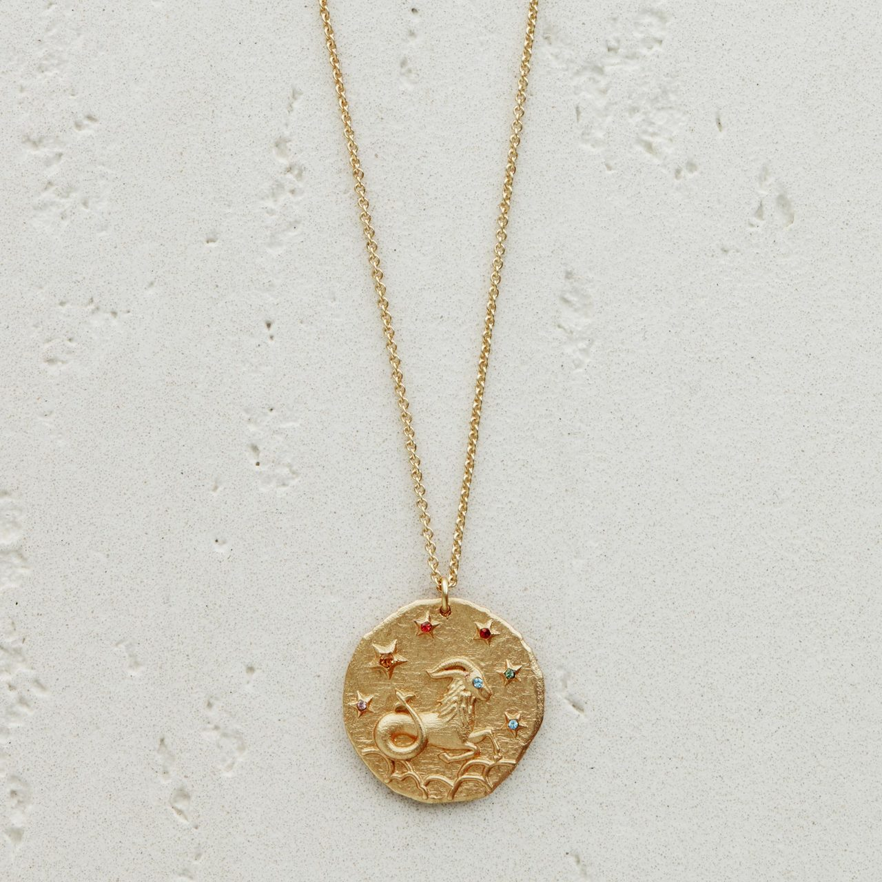 CapricornZodiac Sign Necklace - Gold