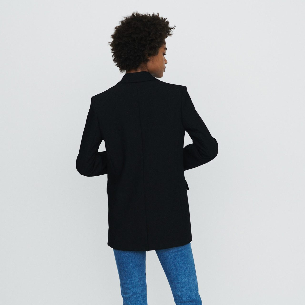 Suit Jacket With Buttons - Black