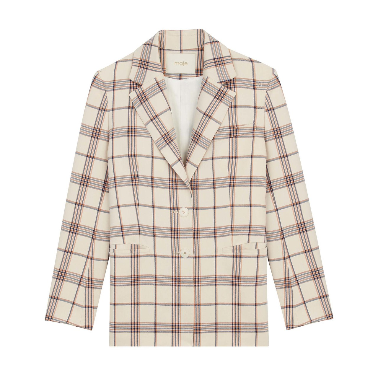 Tailored Jacket With Checks  - Check