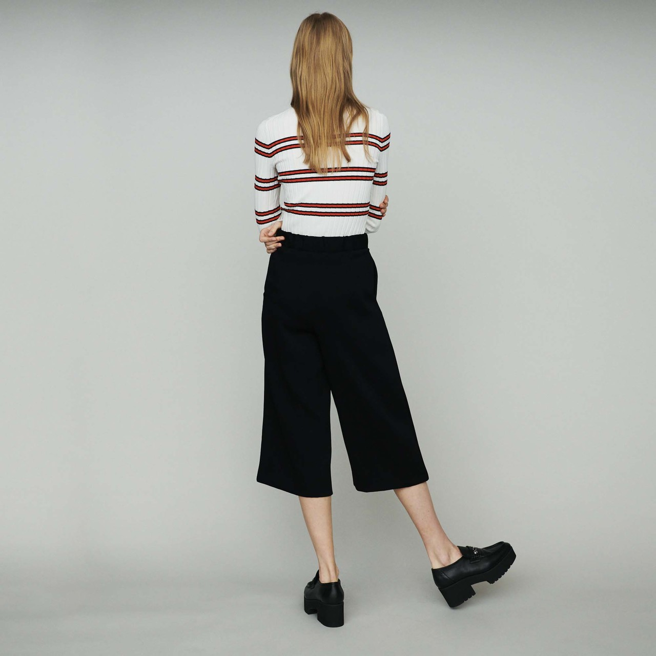 Large Trousers In Crepe - Black