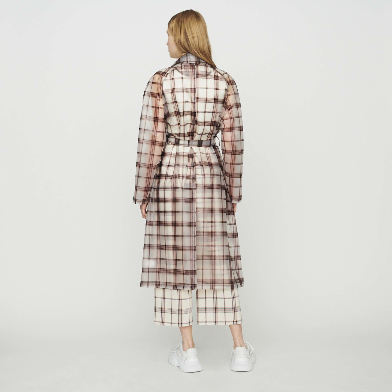 Transparent Checkered Windproof Jacket - Check