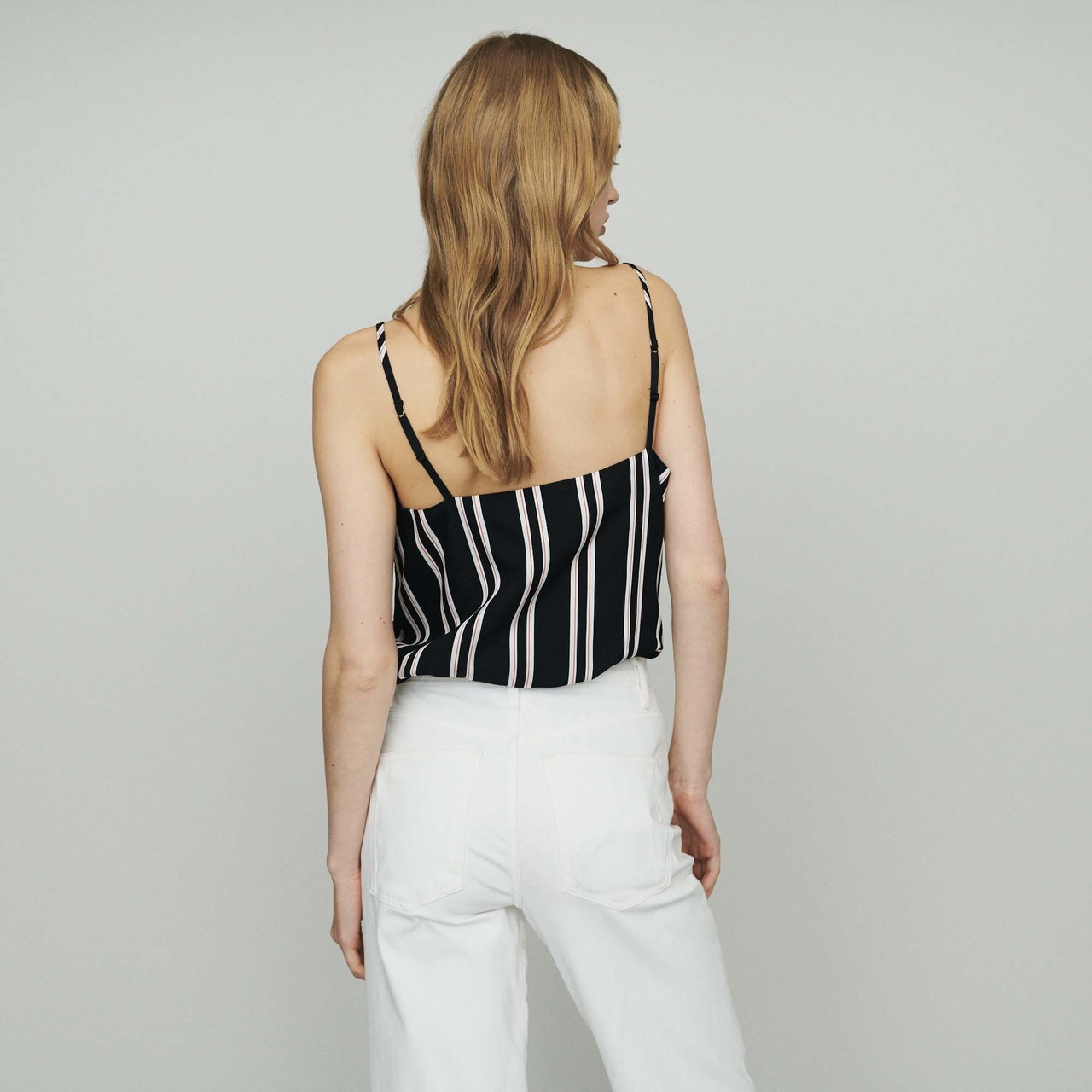 Striped Camisole With Lace - Stripe