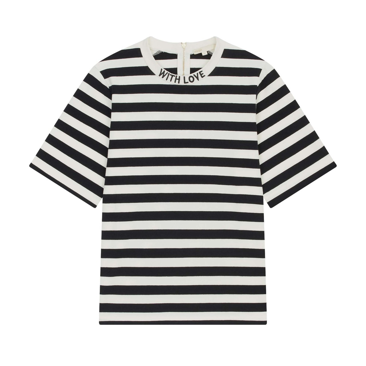 Bicolor Striped T Shirt - Stripe