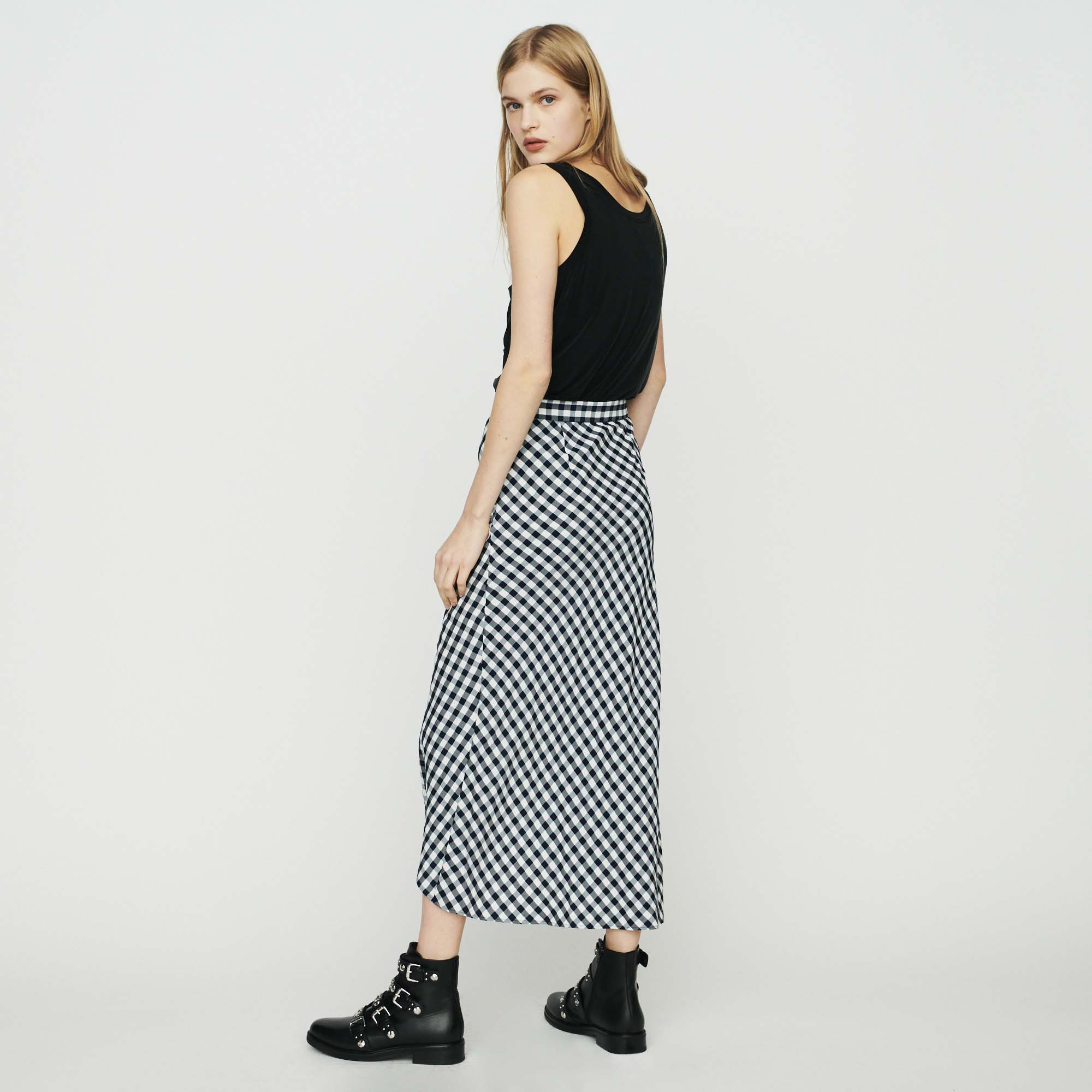 Skirt with vichy print - Check