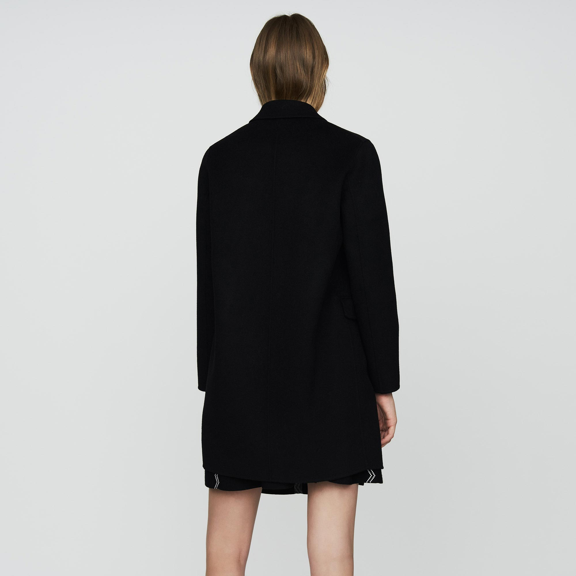 Double-faced wool coat - Black