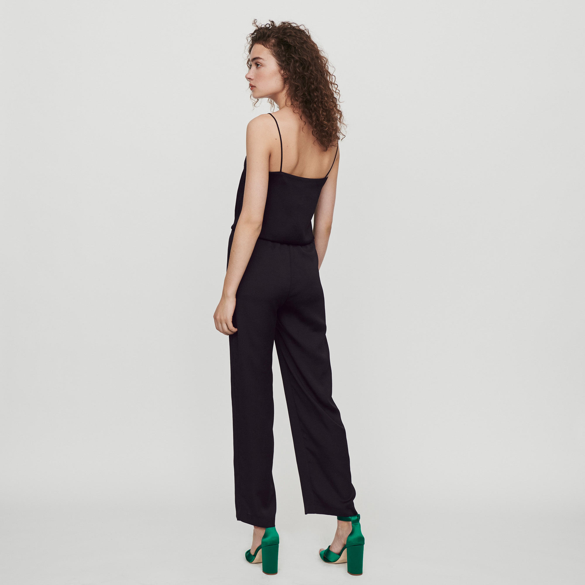 Satin jumpsuit - Black