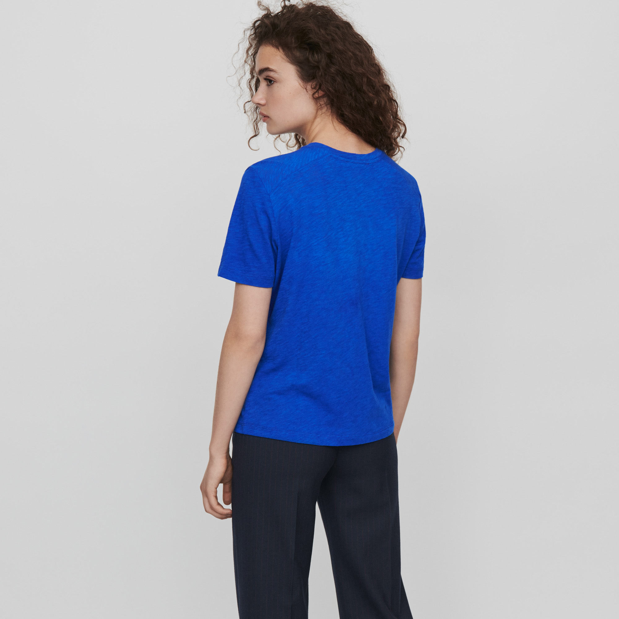 Embroidered tee shirt - Blue
