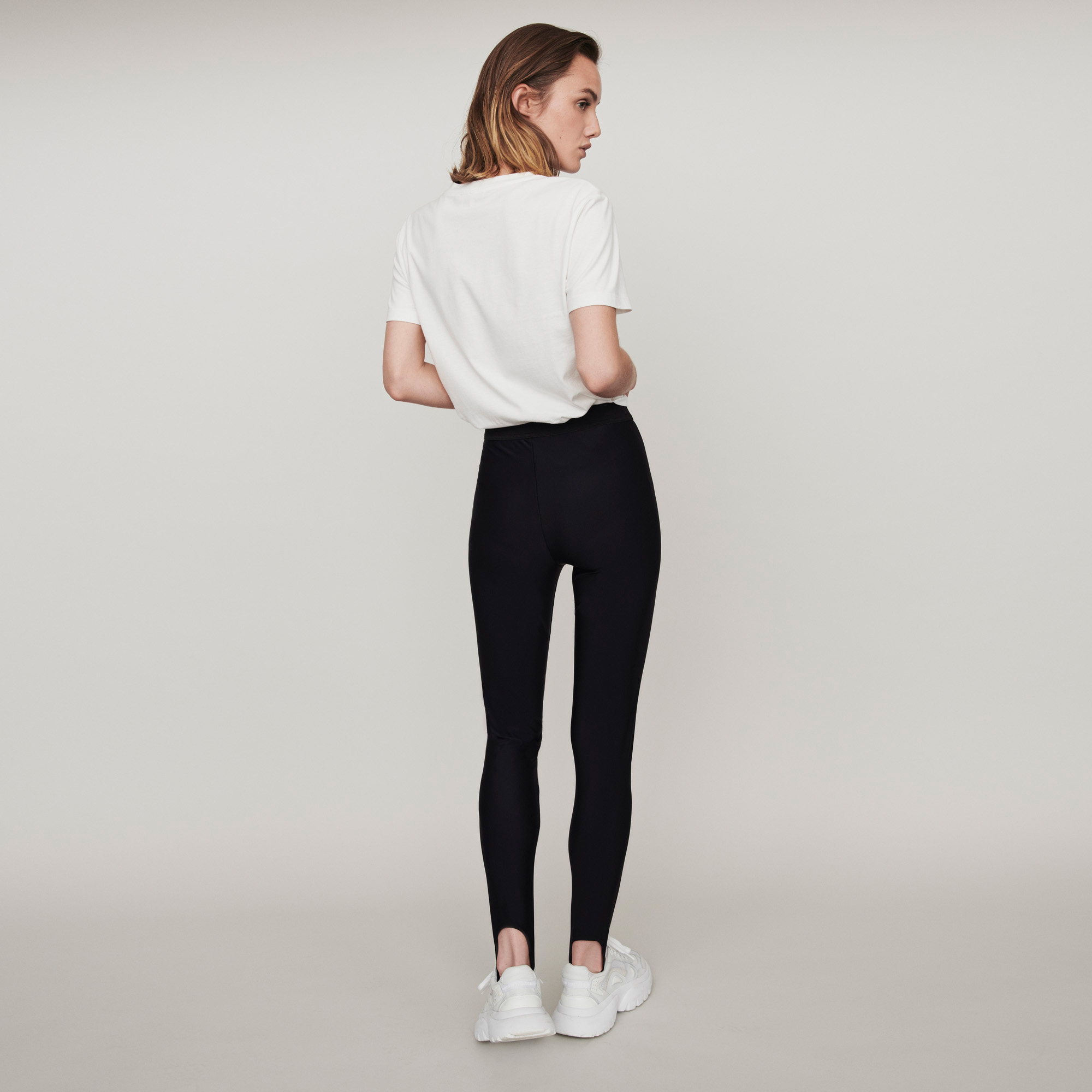 Stretch Stirrup Pants - Black