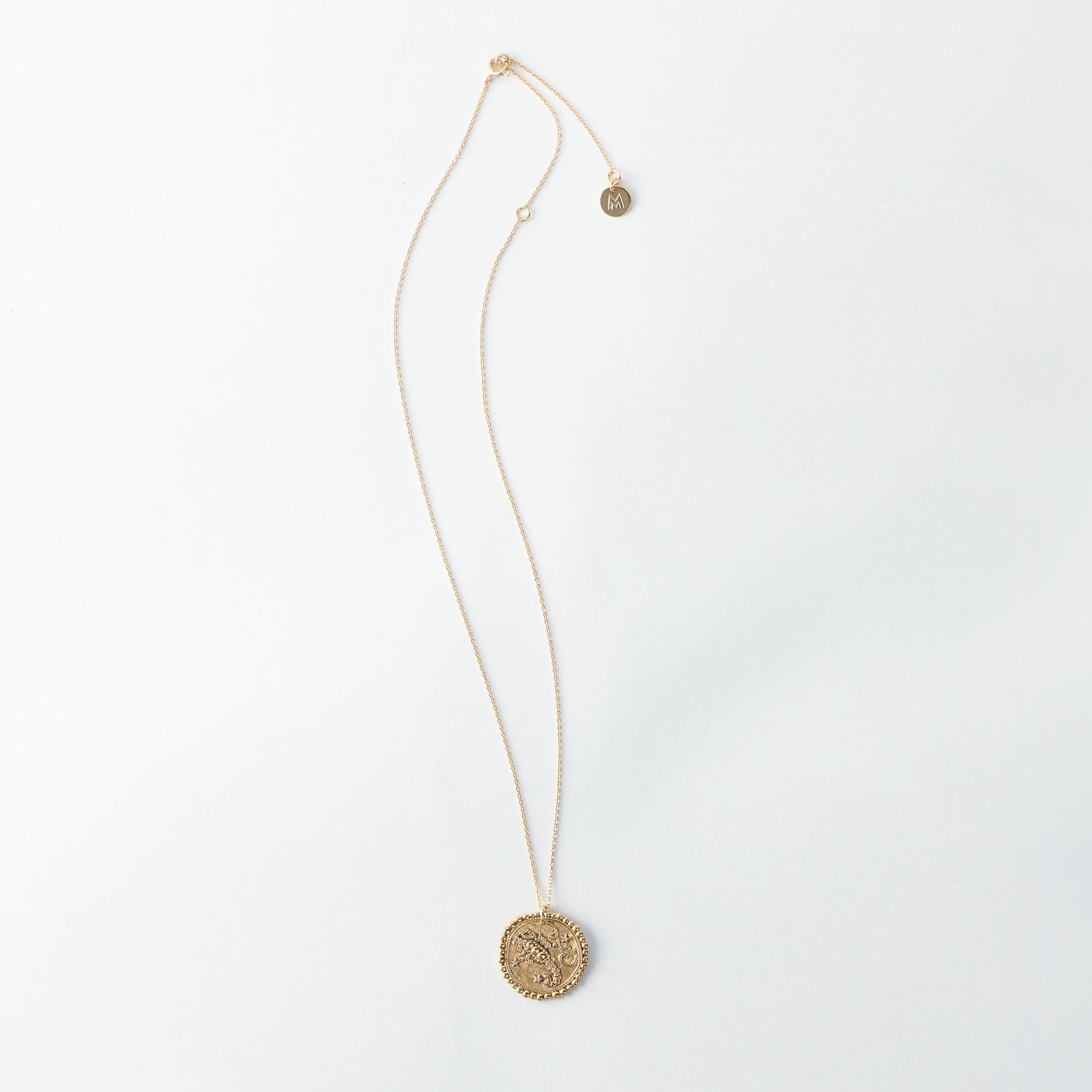 Scorpio Zodiac Necklace - Gold