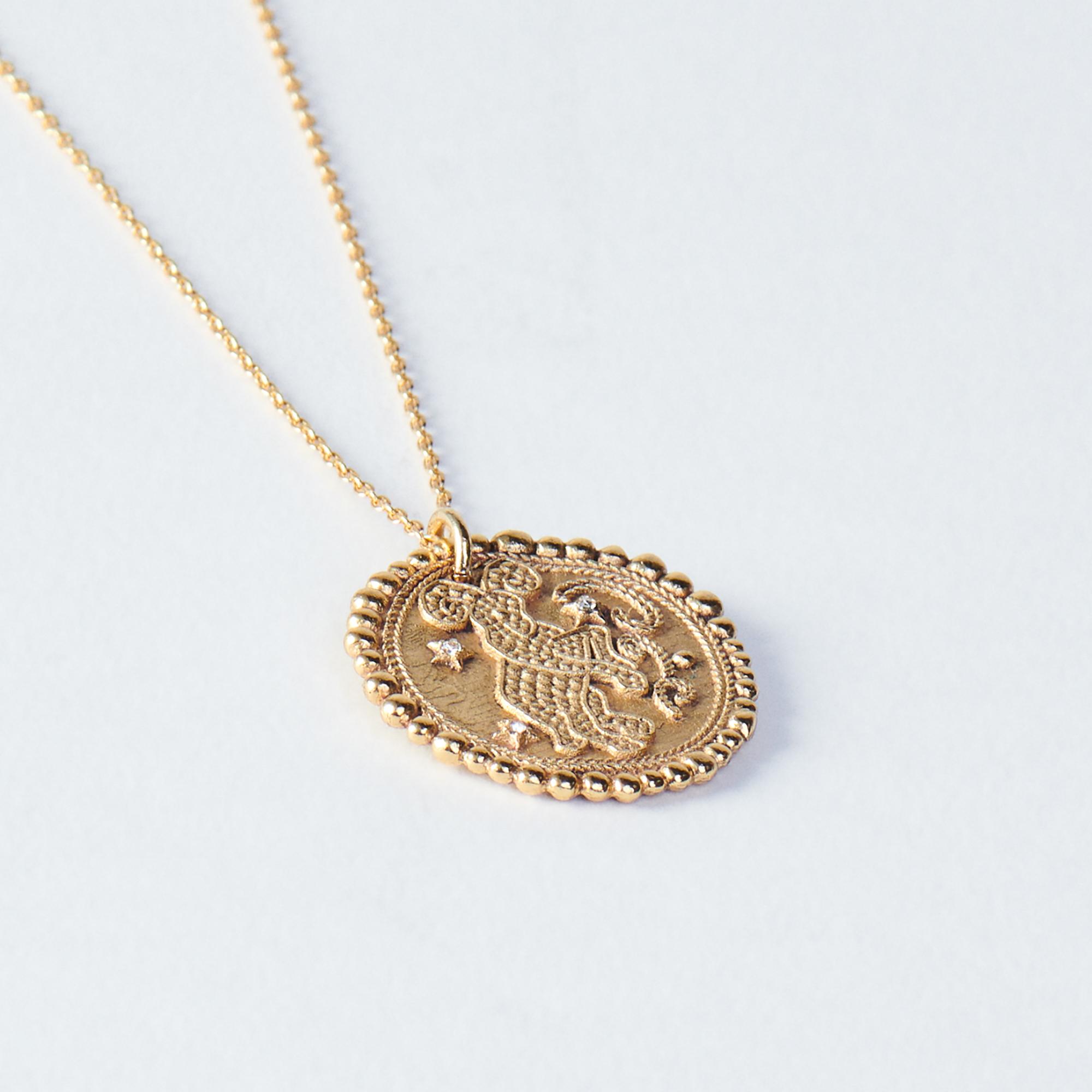 AriesZodiac Necklace - Gold