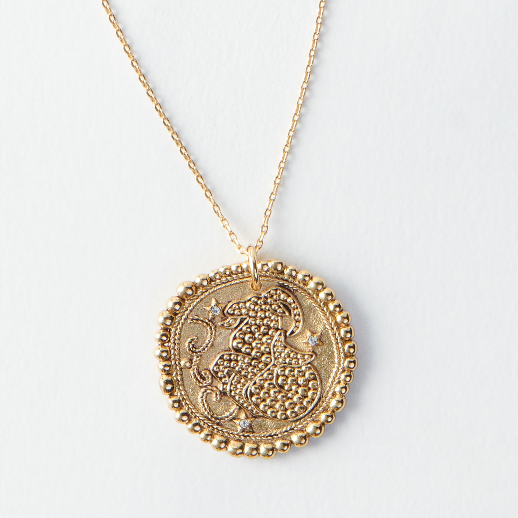 Capricorn Zodiac Necklace - Gold