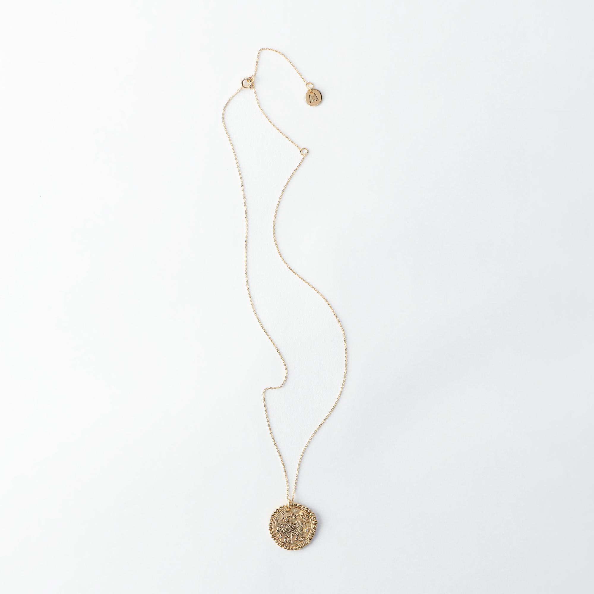 Taurus Zodiac Necklace - Gold