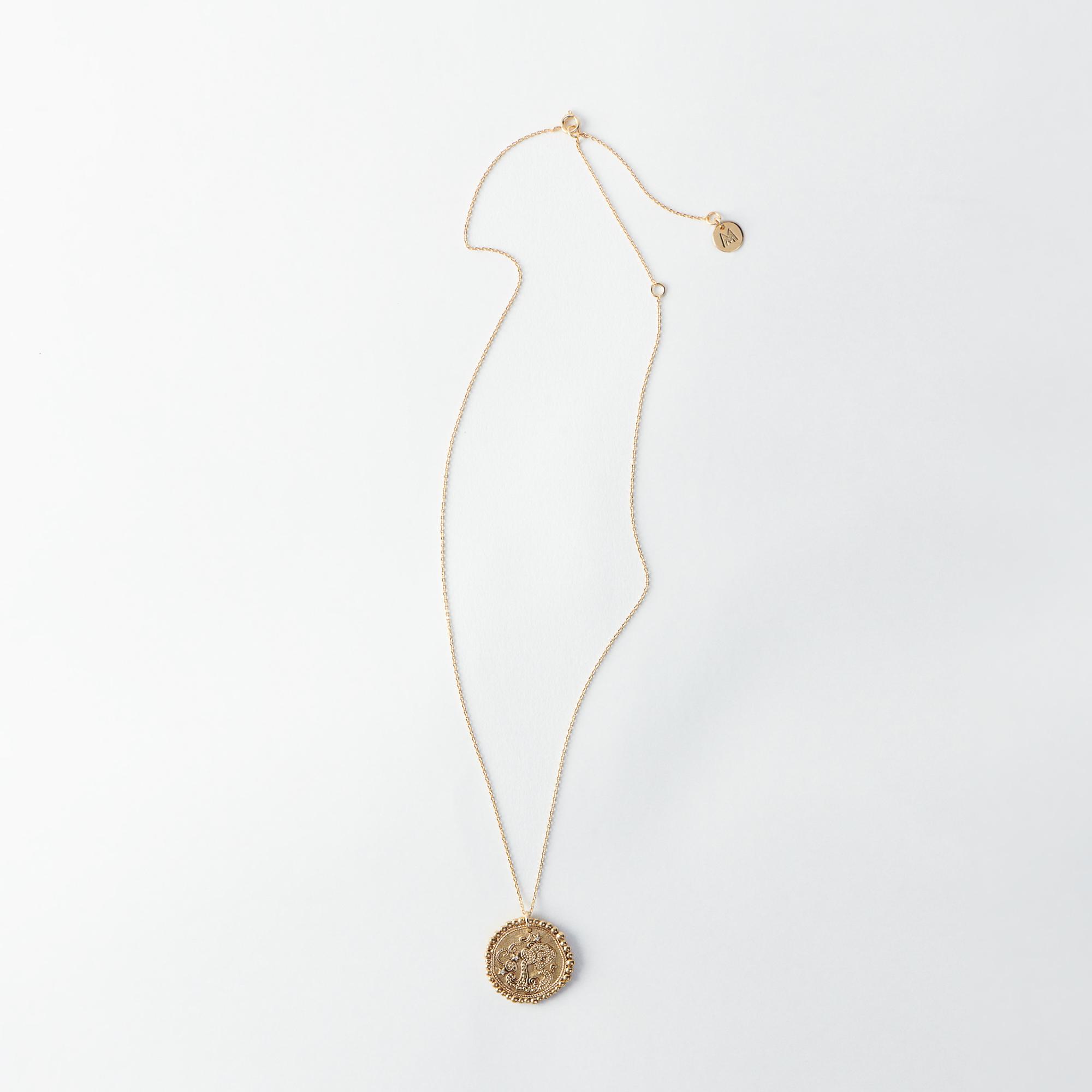 Aquarius Zodiac Necklace - Gold