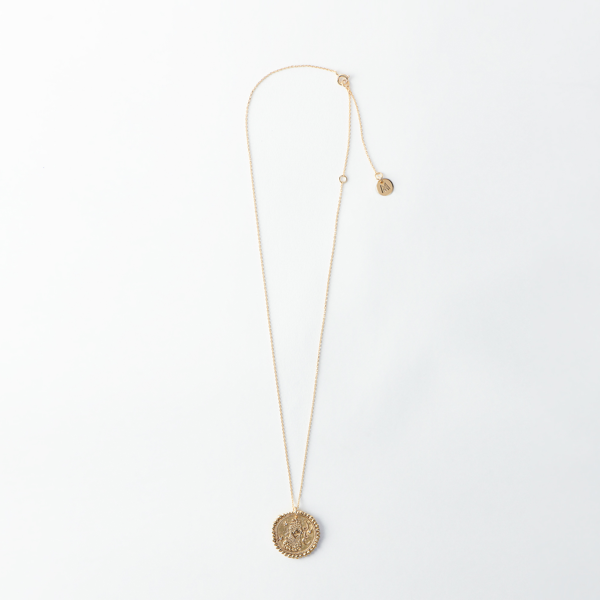 Virgo Zodiac Necklace - Gold