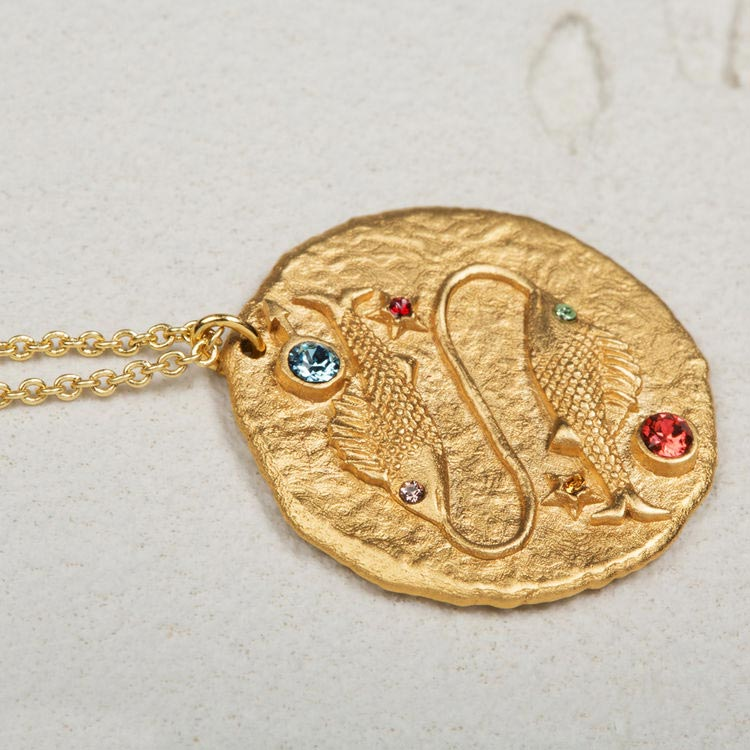 Pisces Astro necklace - Gold