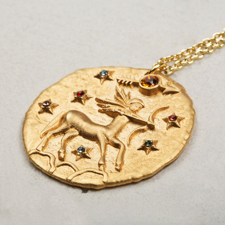 Sagitarius Astro necklace - Gold