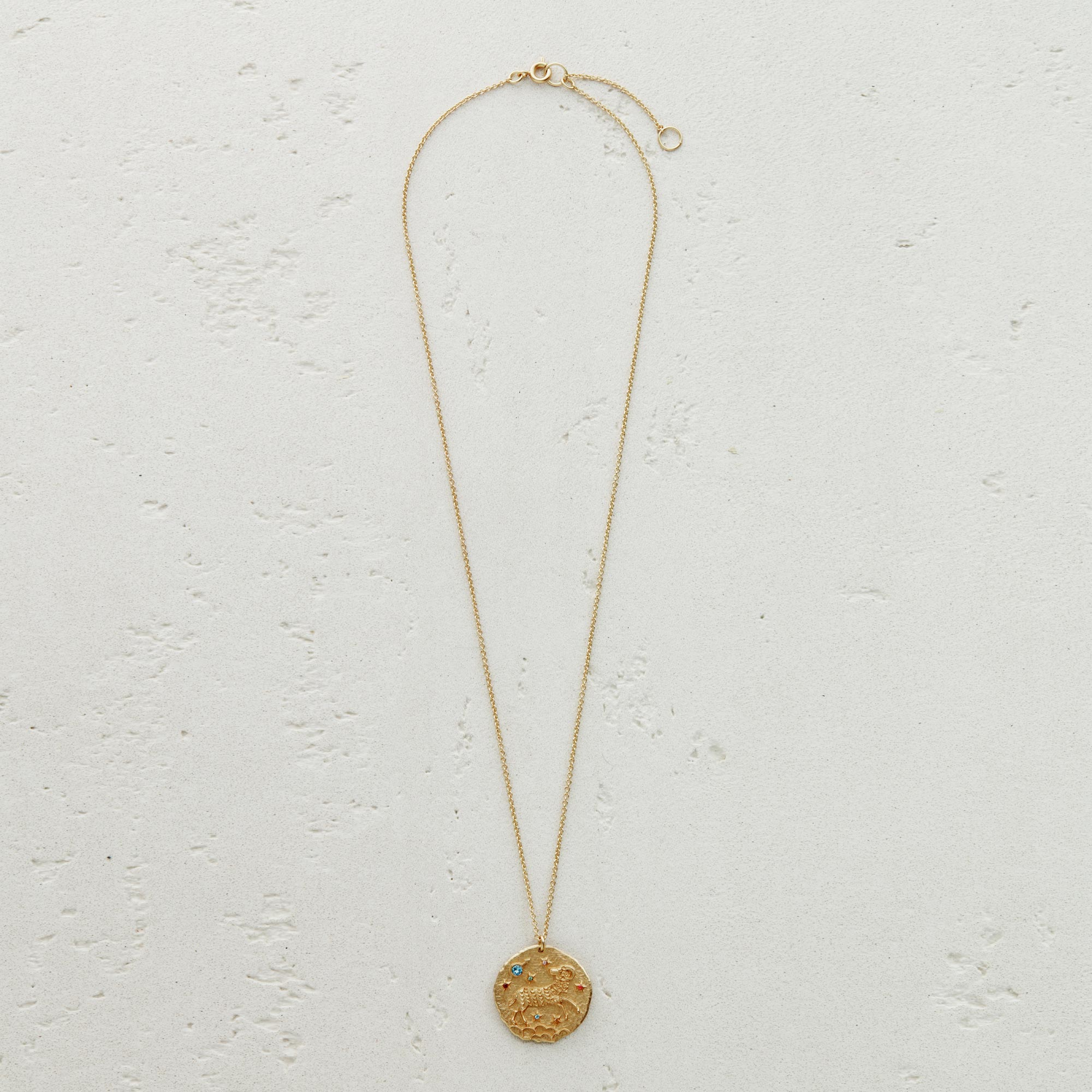 Aries Astro necklace - Gold