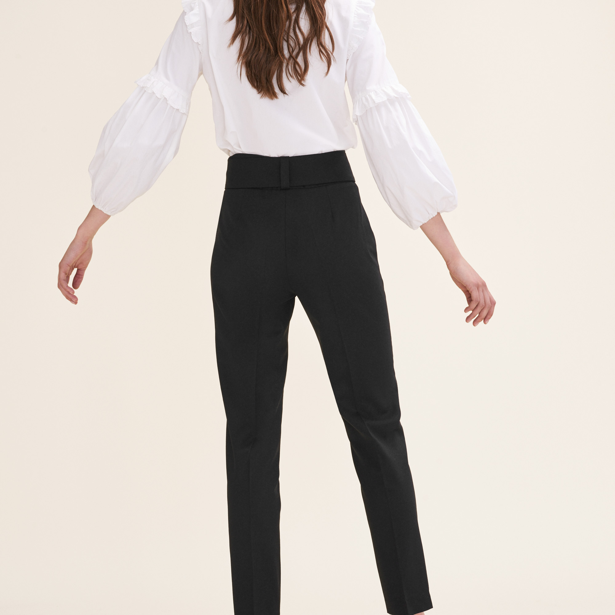 Carrot trousers with bow - Black