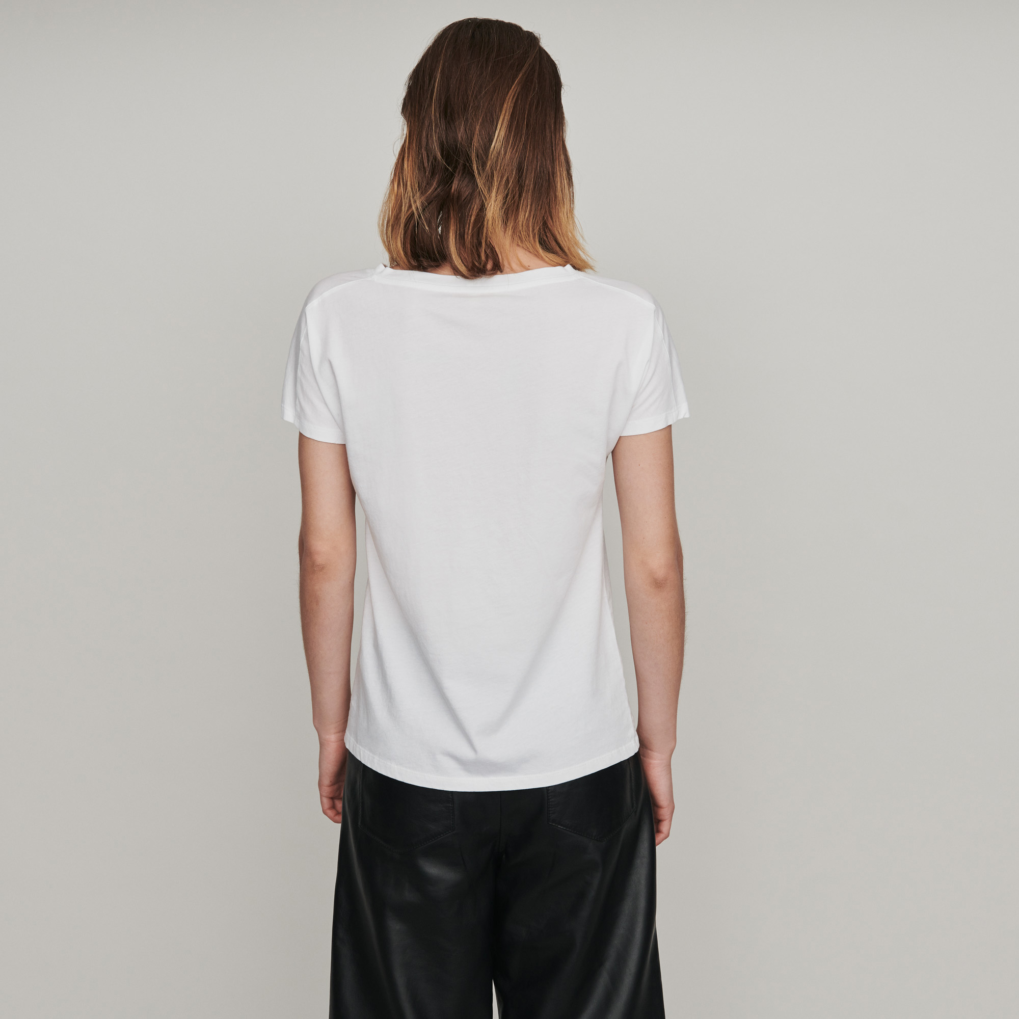 M embroidered jersey tshirt - White