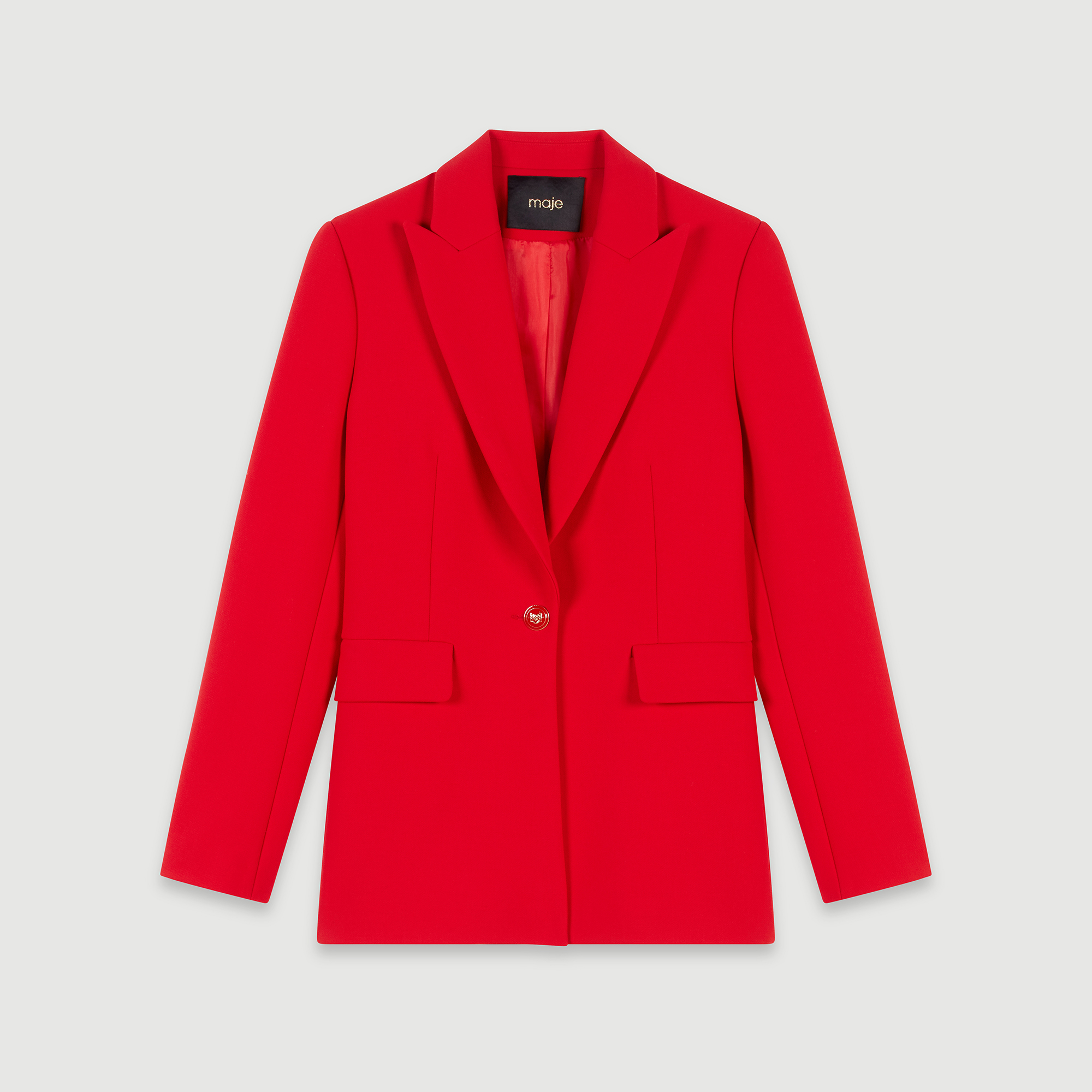 Cinched waist jacket - Red