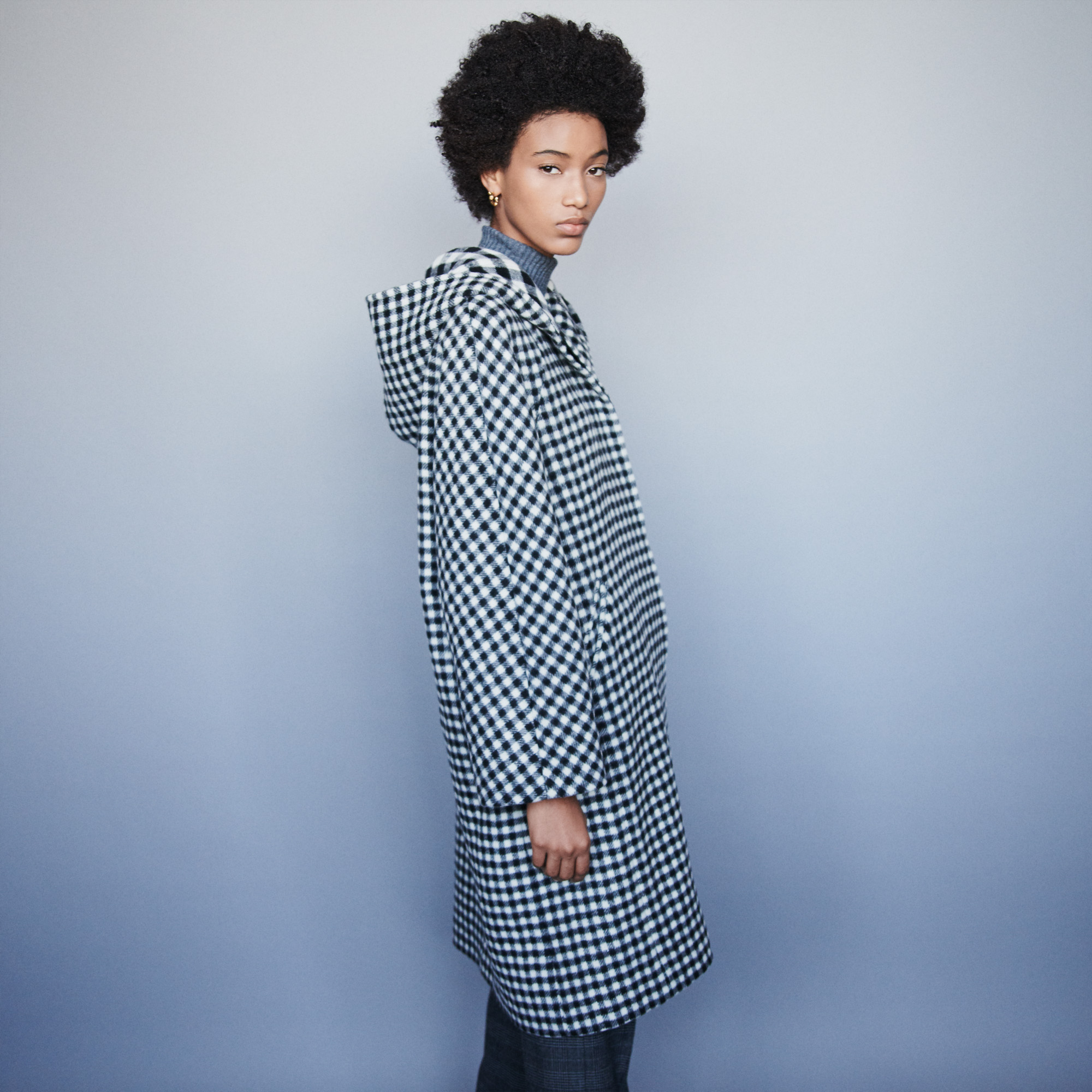 Wool plaid coat - Multiclr