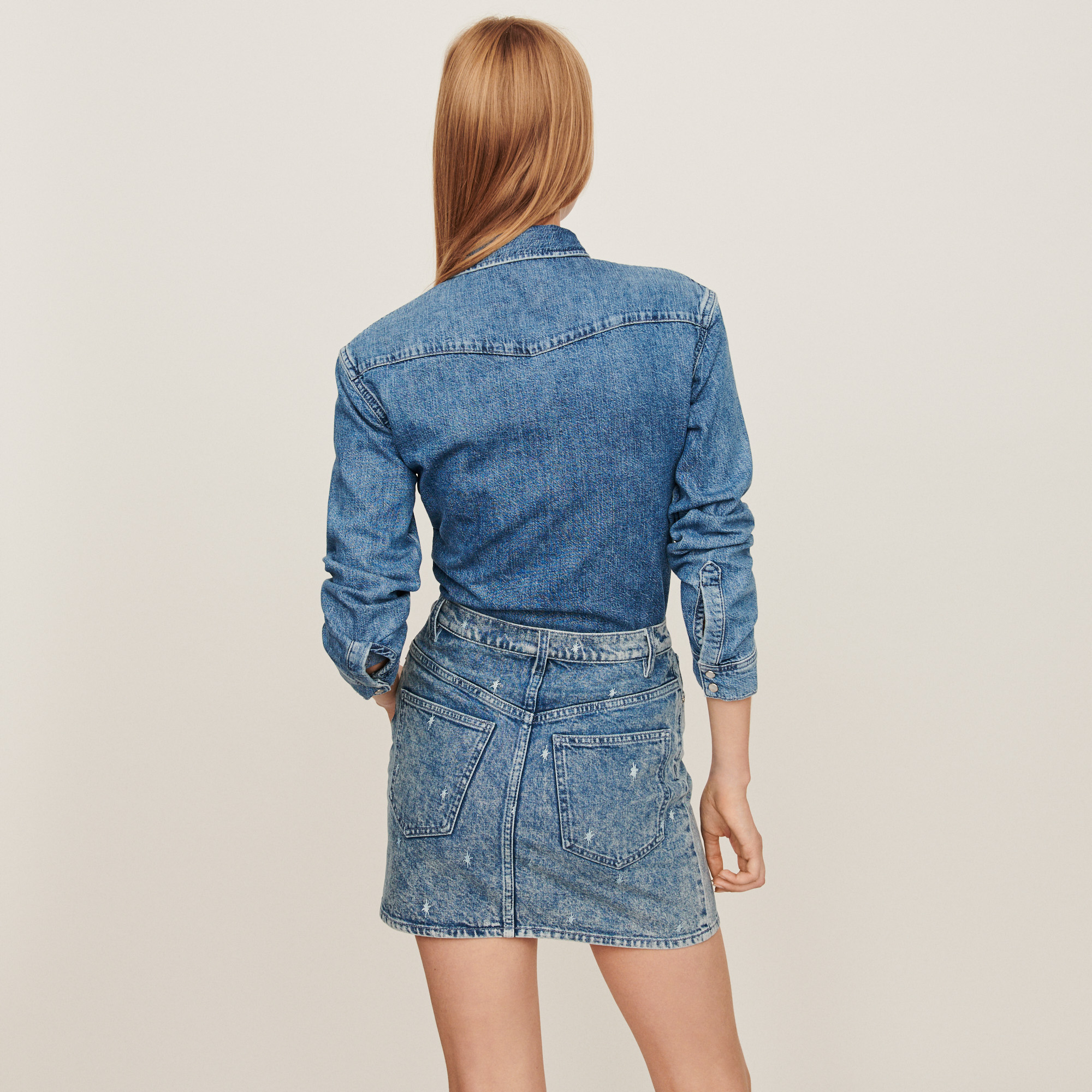 Faded jean shirt - Blue