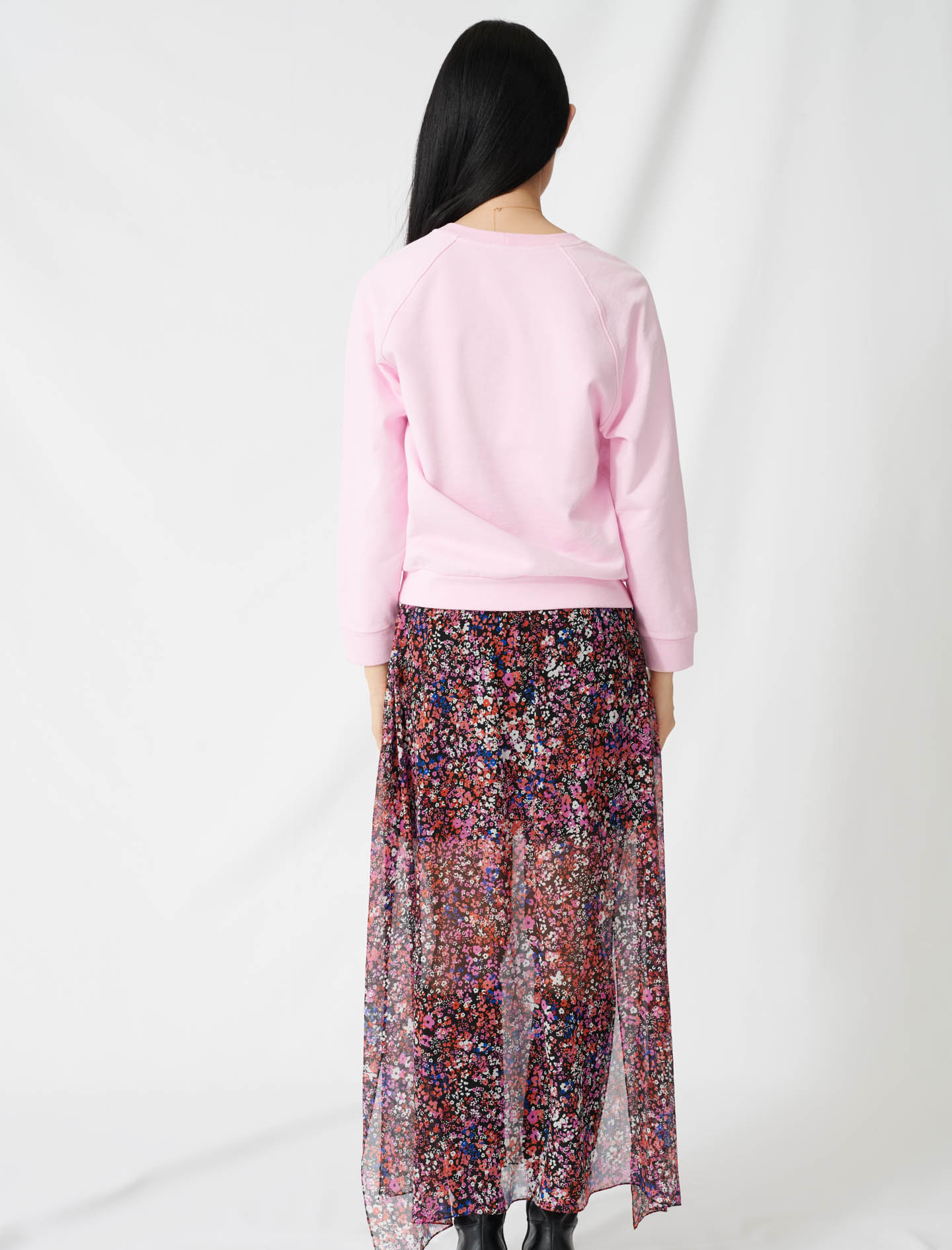 Soft sweatshirt with Paradise embroidery - Pink